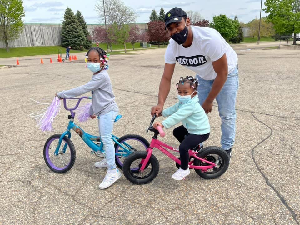 Madison family receives bikes